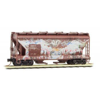 Micro Trains N Scale BNSF Weathered Covered Hopper Road #409164