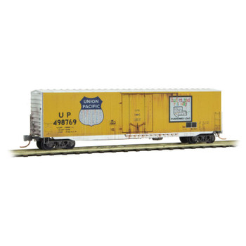 Micro Trains N Scale Union Pacific Weathered Boxcar Gondola 2 Pack