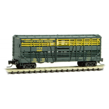 Micro Trains 520 00 242 Z Scale Chicago & North Western Boxcar Road #14307