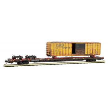 Micro Trains N Scale QUAX Salvage With Boxcar Road #281102