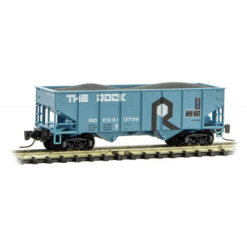 Micro Trains Z Scale Rock Island Line Twin Bay Hopper With Load Road #510739