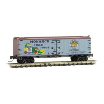 Micro Trains 518 00 710 Z Scale Monarch Foods 40' Boxcar Farm To Table Car 1 Road #14290