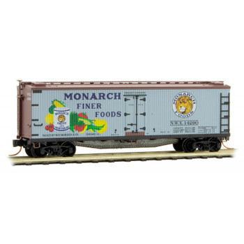 Micro Trains 049 00 300 N Scale Monarch Foods 40' Boxcar Farm To Table Car 1