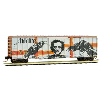 Micro Trains 993 05 490 N Scale Tell Tale Heart Boxcar Hopper Weathered Graffiti 2 Pack