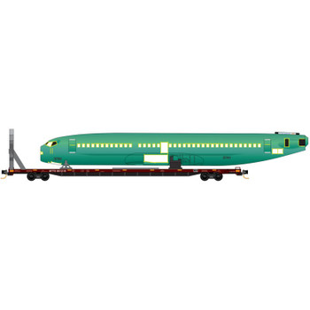 Micro Trains 993 01 783 N Scale TTX Fuselage Transport 2 Pack #3