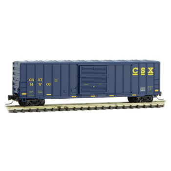 Micro Trains 510 00 431 Z Scale CSX 50' Rib Side Boxcar Road #141706