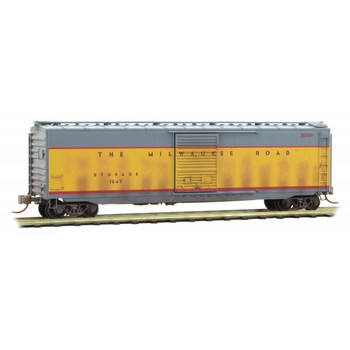 Micro Trains 031 44 510 N Scale Milwaukee Road Weathered Boxcar  Road #1643
