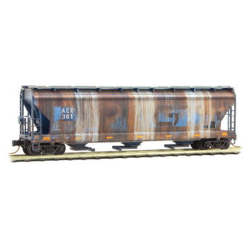 Micro Trains 993 05 500 N Scale AEX GT Weathered Covered Hopper 2 Pack