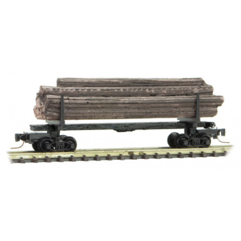 Micro Trains 538 00 180 Z Scale 40' Modern Log Car With Load #16