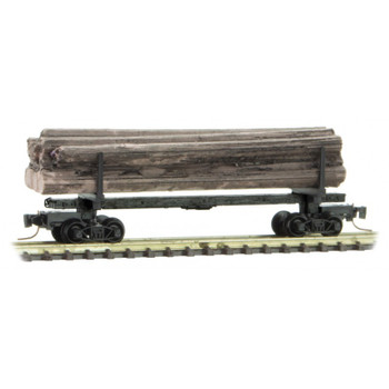 Micro Trains 538 00 190 Z Scale 40' Modern Log Car With Load #17