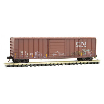 Micro Trains 025 44 156 N Scale Weathered Graffiti Canadian National CN Boxcar