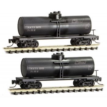 Micro Trains 530 44 440 Z Scale Weathered NATX Tank Car Tanker 2 Pack