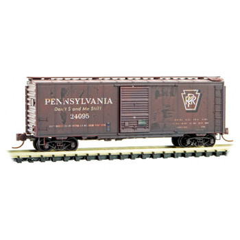 Micro Trains 993 05 540 N Scale Pennsylvania Weathered Boxcar 2 Pack