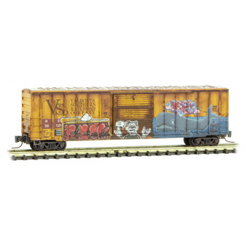 Micro Trains 510 44 440 Z Scale HS ex.Valdosta Southern Weathered Boxcar Road Number #30121