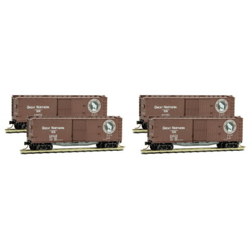 Micro Trains 993 00 153 N Scale Great Northern 50' Boxcar Runner 4 Pack RP#153