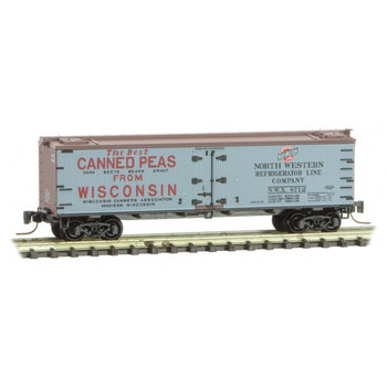 Micro Trains 518 00 750 Z Scale Farm To Table Boxcar #5 Wisconsin Cannery Association Canned Peas