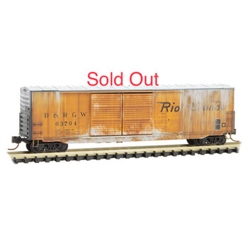 Micro Trains 182 44 110 N Scale DRGW Denver Rio Grande Western Weathered 50' Boxcar