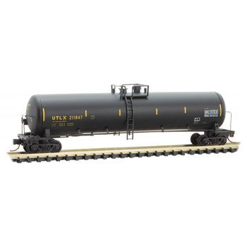 Micro Trains 110 44 240 N Scale UTLX (black) Graffiti Weathered 56' Tank Car