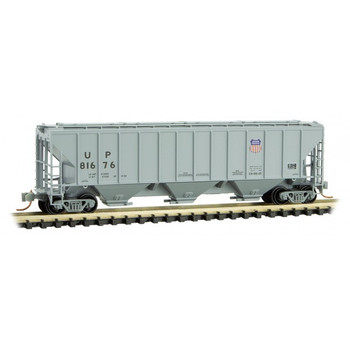 Micro Trains 096 00 191 N Scale UP Union Pacific 3 Bay Covered Hopper Road # 81676