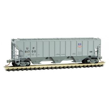 Micro Trains 096 00 192 N Scale UP Union Pacific 3 Bay Covered Hopper Road # 81700