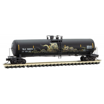 Micro Trains 110 44 420 N Scale TILX Weathered Graffitied 56' Tank Car Road #198915