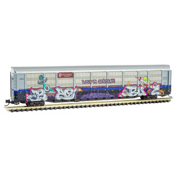 Micro Trains 111 44 290 N Scale Ferromex TTX Graffiti Tri Level Closed Autorack