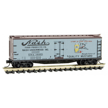 Micro Trains 049 00 860 N Scale Farm-to-Table 40' Boxcar #9 Nash Mustard