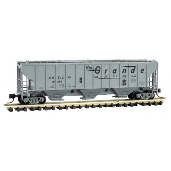 Micro Trains 096 00 071 N Scale Denver & Rio Grande Western 3 Bay Covered Hopper Road #15331
