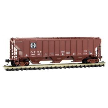Micro Trains 096 00 211 N Scale ATSF 3 Bay Covered Hopper Road #307881