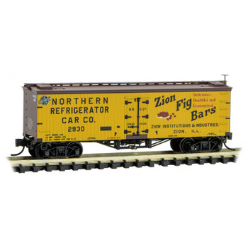 Micro Trains 058 00 490 N Scale Farm To Table Boxcar 10 Zion Fig Bars Northern Refrigerator Car Co.