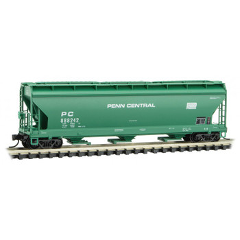 Micro Trains 094 00 590 N Scale Penn Central 3 Bay Covered Hopper Road #888242