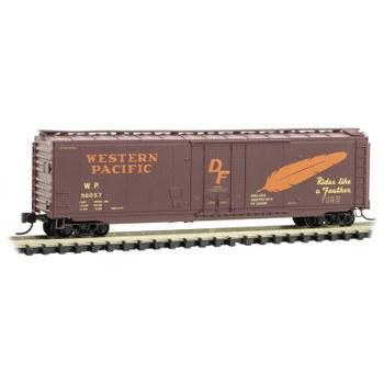 Micro Trains 032 00 510 N Scale Western Pacific 50' Boxcar Road #56057