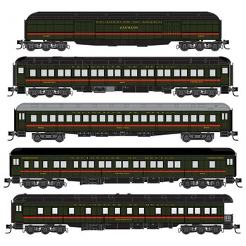 Micro Trains 993 01 990 N Scale Nacionales De Mexico Passenger Set Heavyweight 5 Pack
