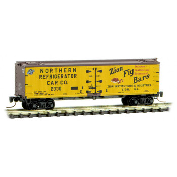 Micro Trains 518 00 800 Z Scale Farm To Table Series Boxcar #10 Zion Fig Bars