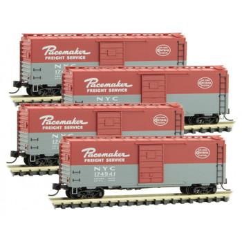 Micro Trains 993 00 160 N Scale New York Central Boxcar 4 Pack Pacemaker Freight
