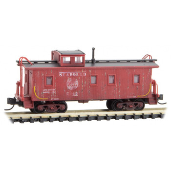 Micro Trains 051 44 020 N Scale Weathered Caboose Seaboard Air Line Road Number #5345
