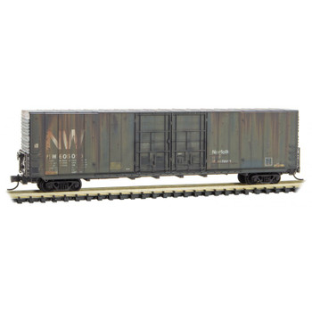 Micro Trains 102 44 040 N Scale N&W Weathered Boxcar Road #605010
