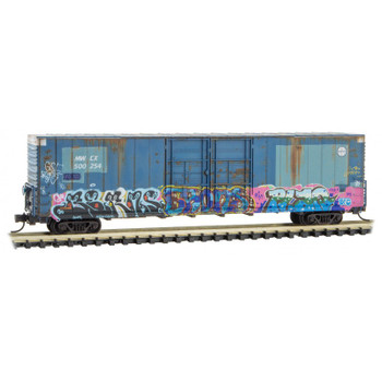 Micro Trains 102 44 200 N Scale Midwest Railcar Weathered Graffitied Boxcar Road #500254
