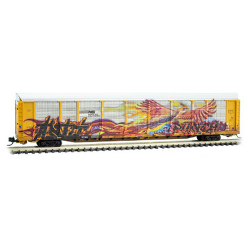 Micro Trains 111 44 360 N Scale Norfolk Southern Graffiti Autorack Road #996637