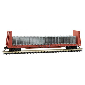 Micro Trains 054 00 260 N Scale ICG 61' Flat Car With Load Road #978688