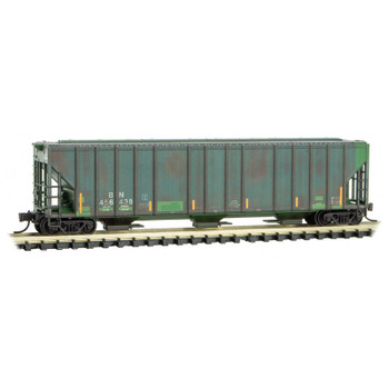 Micro Trains 993 05 680 N Scale Burlington Northern Weathered 3 Bay Hopper 3 Pack