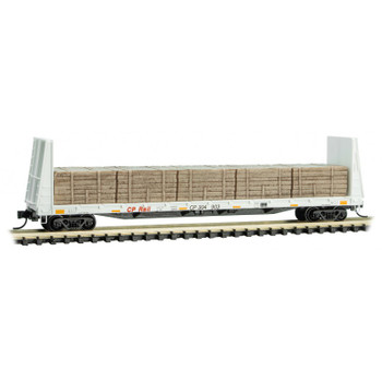 Micro Trains 054 00 270 N Scale Canadian Pacific Flat Car With Load Road #304903