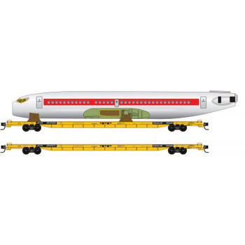 Micro Trains 993 02 120 N Scale TTX Fuselage Transport 2 Pack