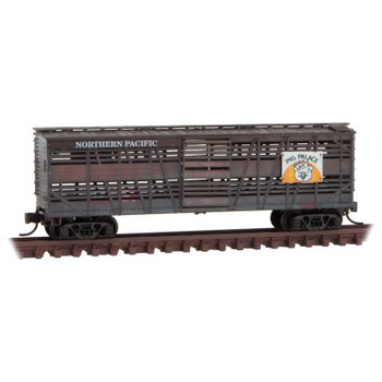 Micro Trains 993 05 820 N Scale Northern Pacific Weather Stock Car 2 Pack