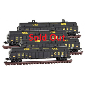 Micro Trains 993 00 173 N Scale CSX Gondolas With Coil Cover 4-Pack