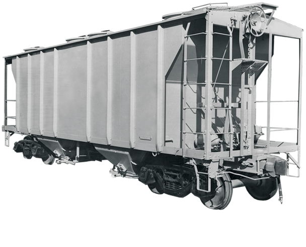 New Body Style - Pullman-Standard PS-2 2-Bay Covered Hopper Coming 2021