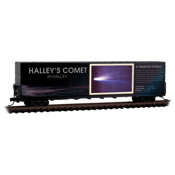 Micro Trains 102 00 842 N Scale Solar System Series Lit Halley's Comet Boxcar