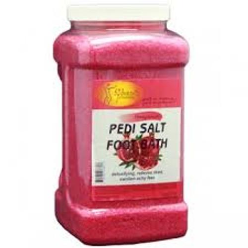 Pedi Bath Fine Salt  (Gallon) Pomegranate