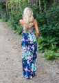 Crushing on You Floral Tank Maxi Navy