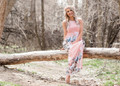 In My Dreams Floral Pocket Maxi Light Pink